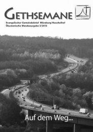 Gemeindebrief 03 2010 - Gethsemanekirche-wuerzburg.de