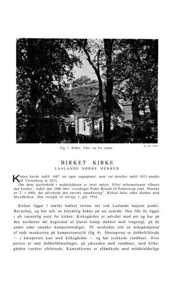 BIRKET KIRKE - Nationalmuseet