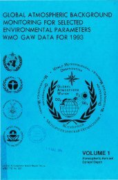 global atmospheric background monitoring for ... - E-Library - WMO