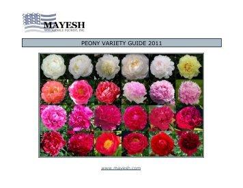 PEONY VARIETY GUIDE 2011