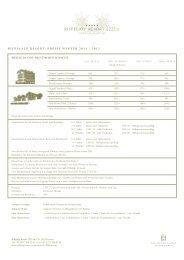 preise winter 2011 / 2012 - Riffelalp Resort 2222m