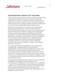 Kostnadsstruktur Hamnar och terminaler – Rapport ... - Sundsvall
