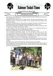 Ausgabe 05/04 vom Juni 2004 - Teckelgruppe Raben