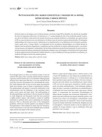 Actualización del marco conceptual y manejo de ... - SciELO Colombia
