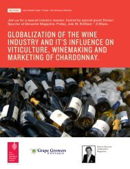 globalization of the wine industry and it's influence on viticulture ...