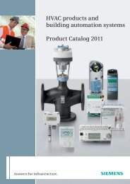HVAC products and building automation systems Product ... - Siemens