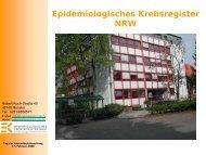 Powerpoint-Präsentation - Krebsregister NRW