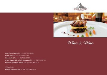 Wine & Dine - Riffelalp Resort 2222m