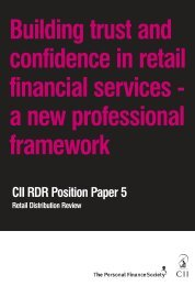 Building trust and confidence in retail financial services