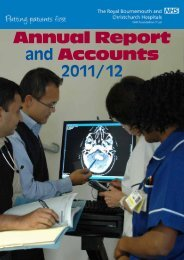 Annual Report and Accounts 2011/12 - Royal Bournemouth Hospital