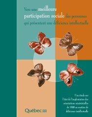 Vers une meilleure participation sociale des personnes qui ...