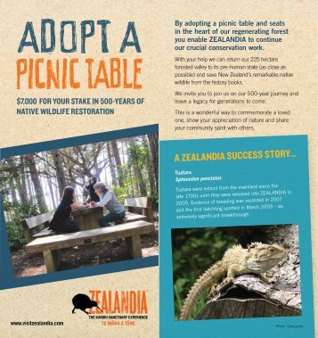 Download brochure (PDF) - Zealandia