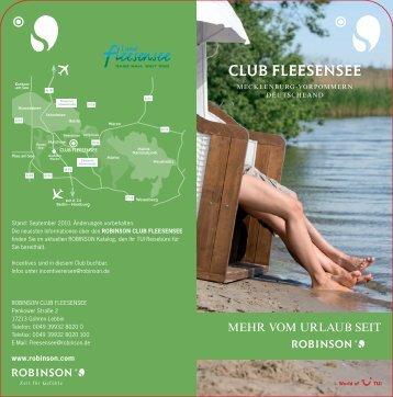 Hausprospekt ROBINSON Club Fleesensee