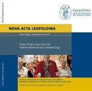 Katalog zur Ausstellung - Leopoldina