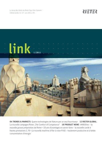 link 1 /2011 04 TRENDS & MARKETS Quatre technologies de - Rieter