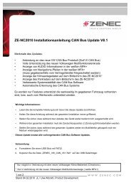 ZE-NC2010 Installationsanleitung CAN Bus Update V8.1 - Zenec