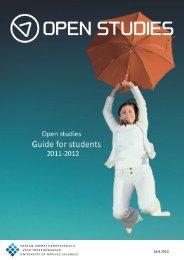 1 Studying at Open Studies - Vaasan ammattikorkeakoulu