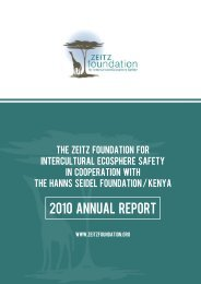 Annual Report for 2010 - Zeitz Foundation