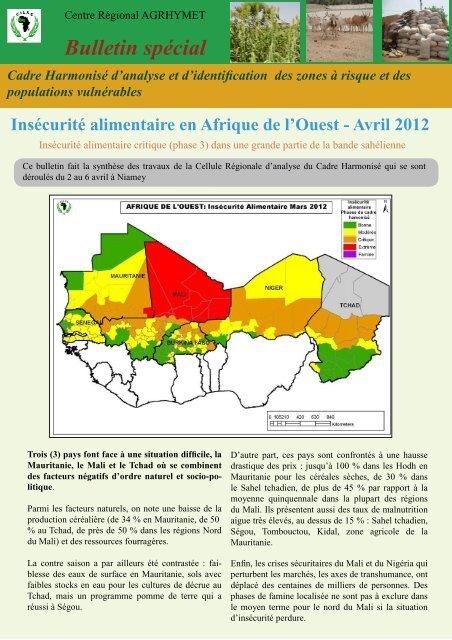Avril 2012 - Centre Régional AGRHYMET