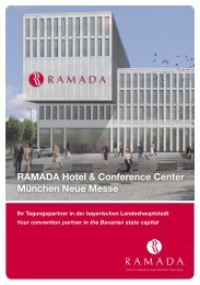 Your convention partner in the Bavarian state capital - Ramada Hotels