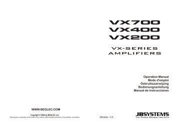 VX-SERIES AMPLIFIERS