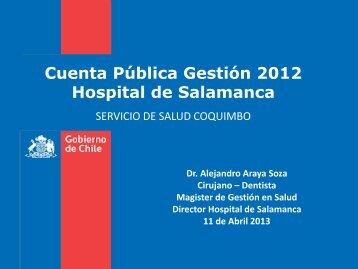 Cuenta Publica 2012 - Servicio de Salud Coquimbo