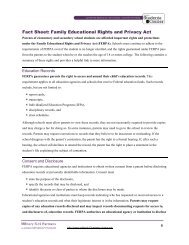 Fact Sheet: Family Educational Rights and Privacy Act - DoDEA