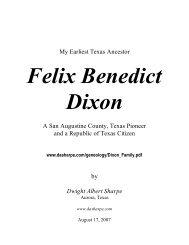 My Earliest Republic of Texas Ancestor, Judge Felix ... - D. A. Sharpe