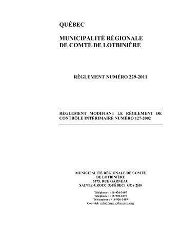 229-2011 - MRC Lotbinière