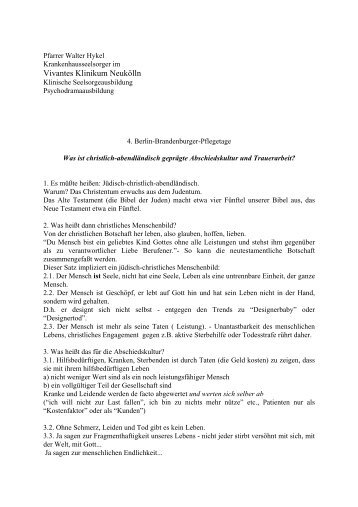 Vivantes Klinikum Neukölln - Berlin Brandenburger Pflegetage