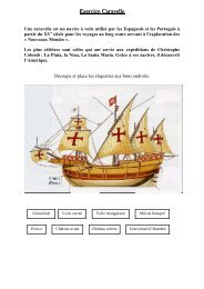 Exercice Caravelle - Pass Education