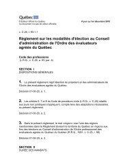 Règlement sur les modalités d'élection au Conseil d'administration ...
