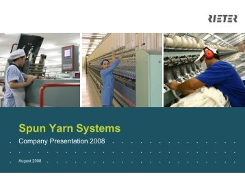 Spun Yarn Systems - Rieter