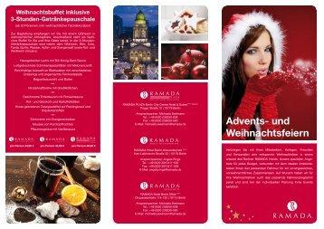 Flyer: Advents- und Weihnachtsfeiern - Ramada Hotels