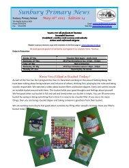 Newsletter No 14 May 16 2013 - Sunbury Primary School