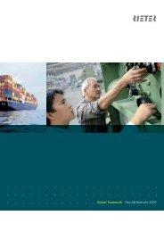 Global Teamwork Geschäftsbericht 2007 - Rieter
