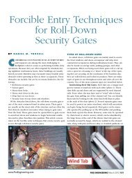Forcible Entry Techniques for Roll-Down Security Gates - American ...