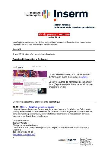 Kit de presse / Asthme