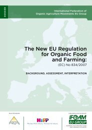 The New EU Regulation for Organic Food and Farming: - ifoam eu