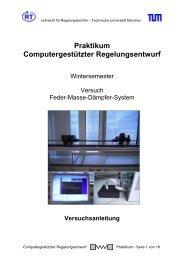 Feder-Masse-Schwinger - Lehrstuhl für Regelungstechnik