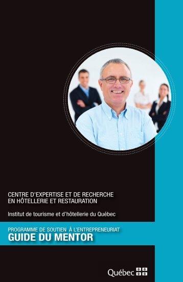 Guide du mentor.indd - Institut de tourisme et d'hôtellerie du Québec
