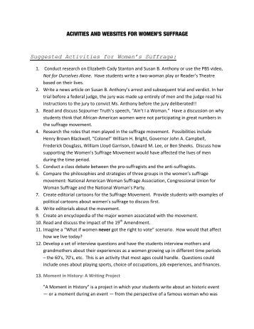 women suffrage essay w s ballot library of congress