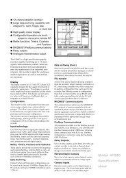 Model 4100G Specification sheet - Elektro-Trading sp. z oo