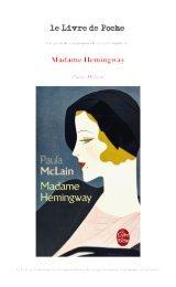 Madame Hemingway - Le Livre de Poche