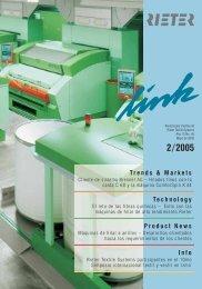 2/2005 Trends & Markets Technology Product News Info - Rieter