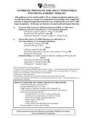 Hospital, Ventilator and Health Care Associated Pneumonia Pathway