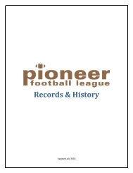PFL ANNUAL CHAMPIONS – TEAM - Pioneer Football League