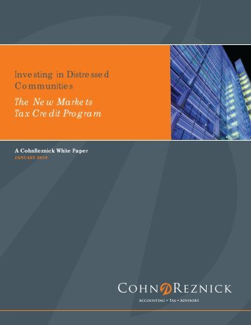 The New Markets Tax Credit Program - CohnReznick