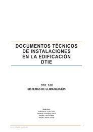 documentos técnicos de instalaciones en la edificación dtie - Atecyr