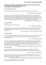 Wir sind Kirche Adventskalender 2008 30. November 2008 1 ...